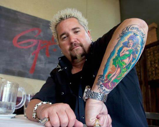 Photo of Guy Fieri's tattoo