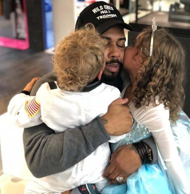 Jennifer's husband, Omar with their children