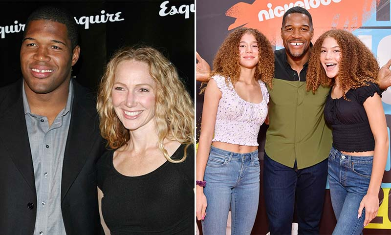 Photo of Michael Strahan and Jean Muggli with their twin daughters