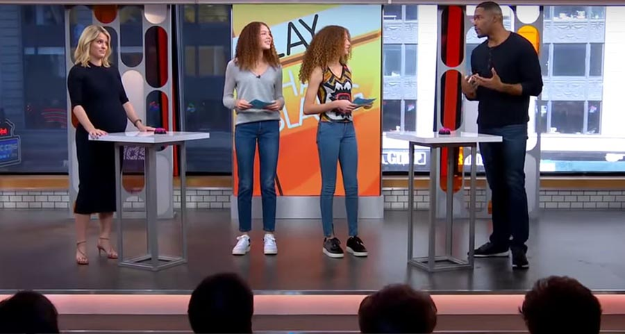 Image of Michal Strahan's daughters on GMA Day