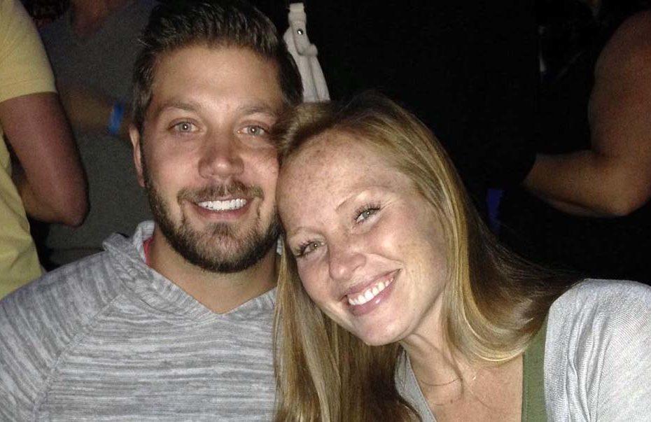 Photo of Mina Starsiak Hawk with her husband, Steve Hawk.