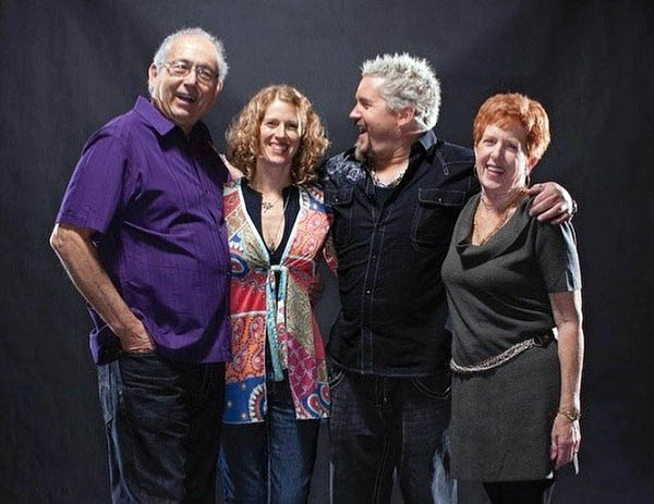 Photo of Morgan Fieri, her sibling, Guy and parent.