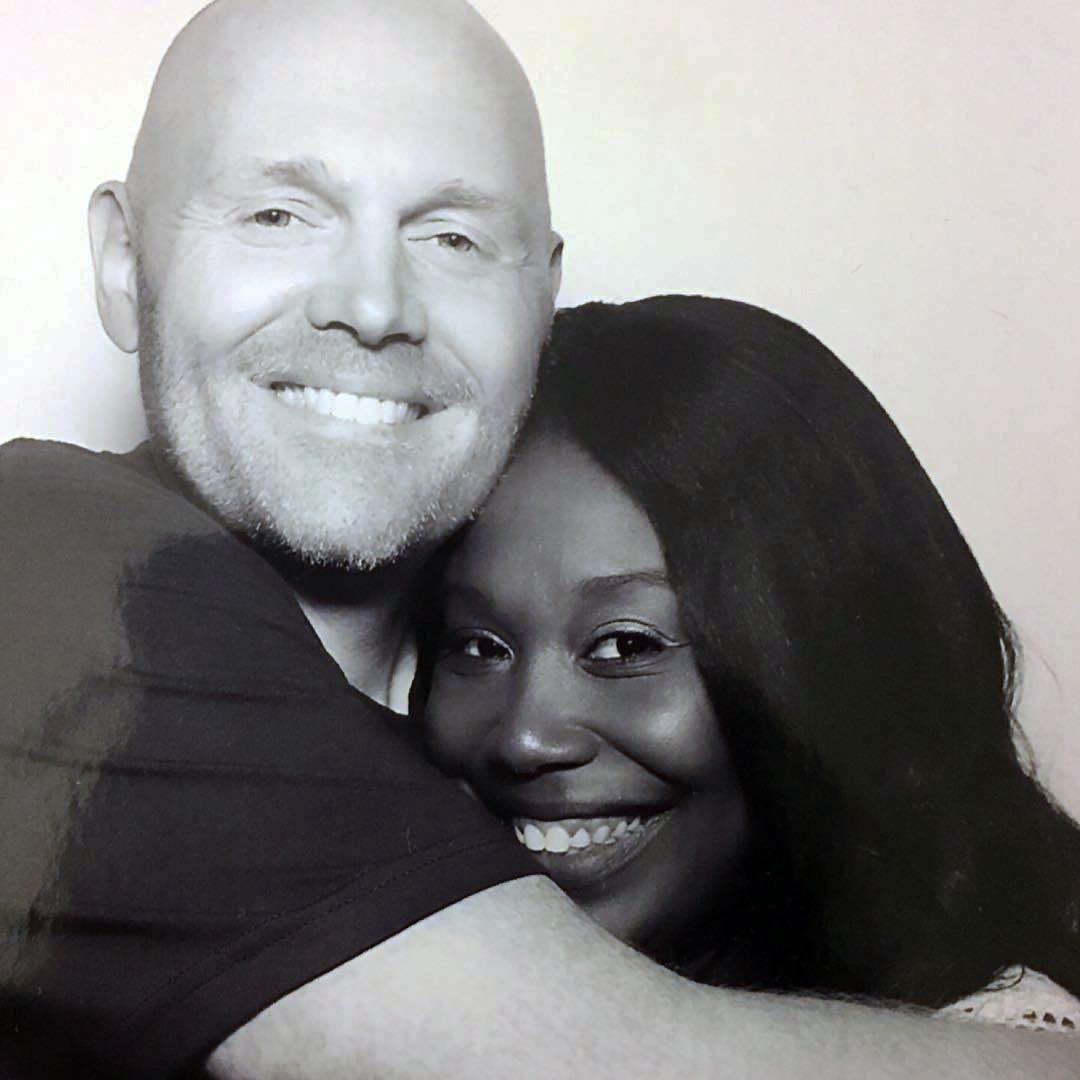 Nia Hill with husband, Bill Bur