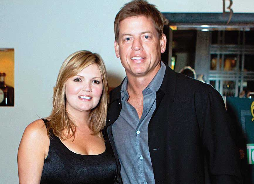 Photo of Rhonda Worthey with her Ex-husband, Troy Aikman.