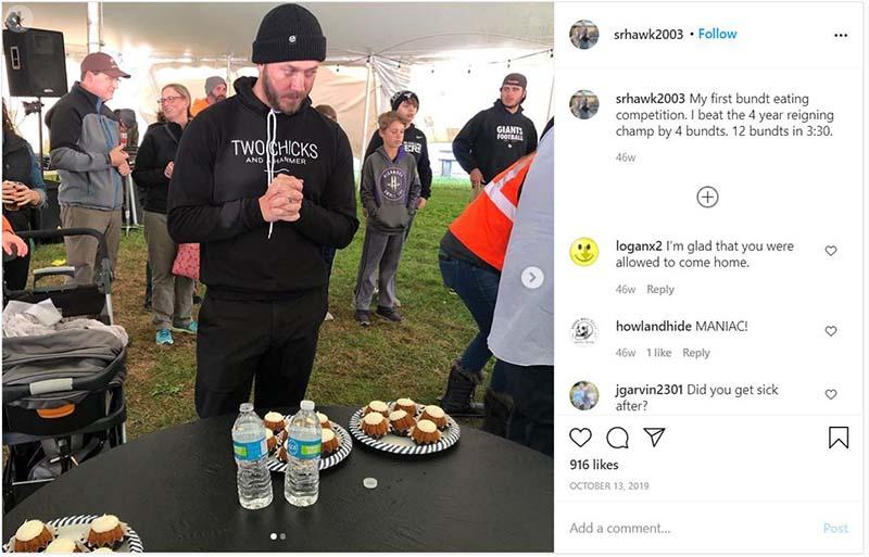 Mina Starsiak, Husband Steve Hawk made record eating 12 bundts.