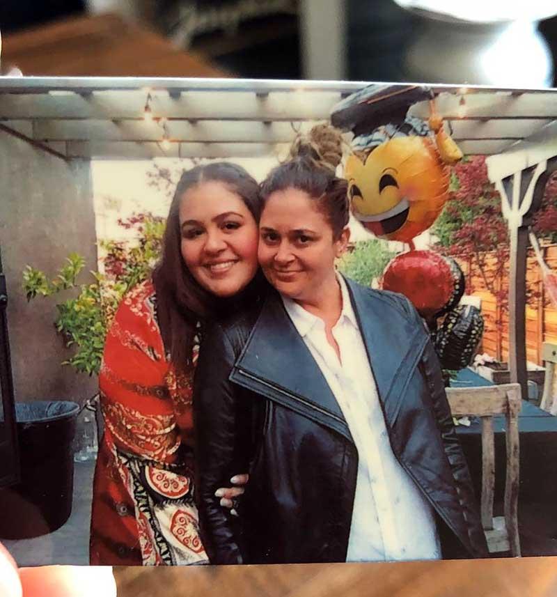 Xea Myers with her mother, Antonia Lofaso