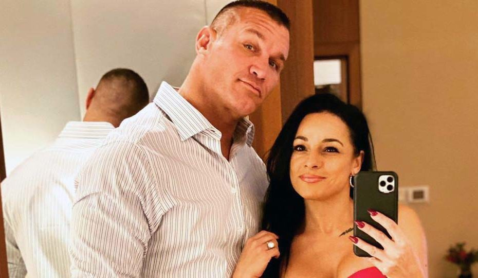 Photo of Randy Orton and her wife, Kim Marie Kessler.