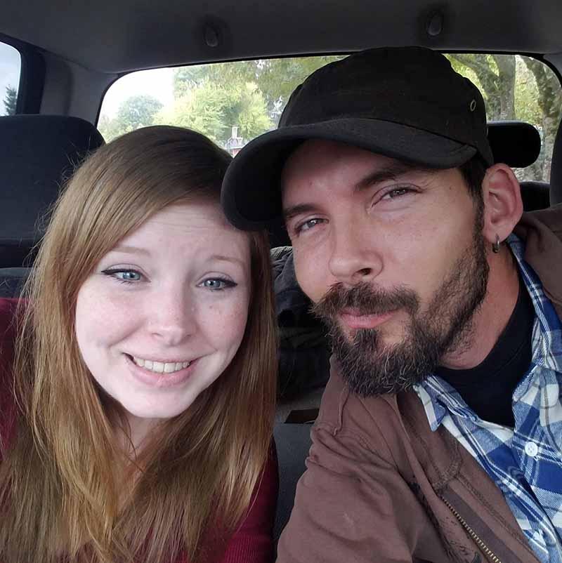 Photo of Sue Aikens's son, Jesse Aikens with his wife, Megan Aikens.