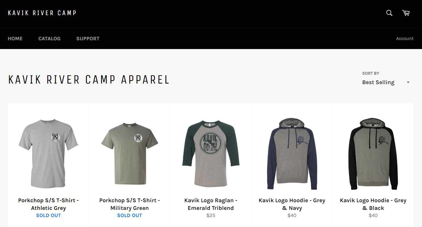 Kavik River Camp online store.