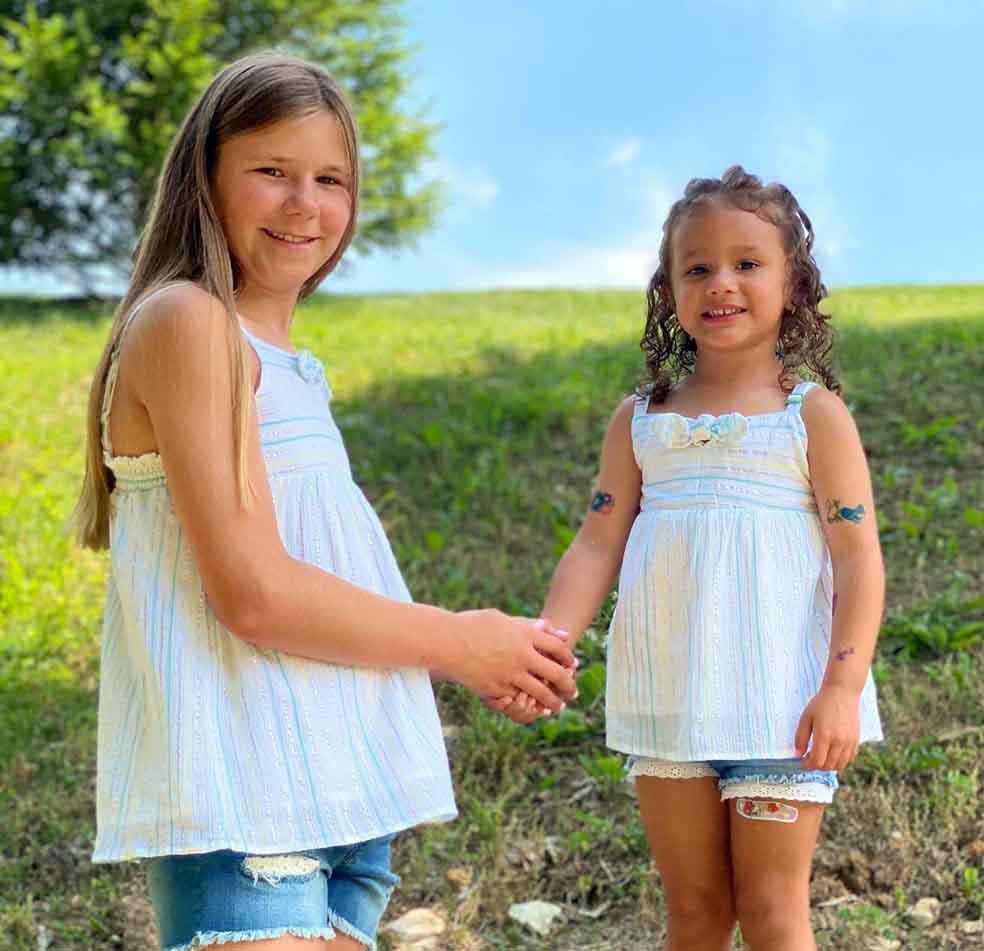 Photo of Kim Kessler and Randy Orton's daughters.