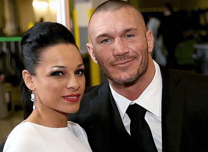 Photo of Kim Marie Kessler with husband Randy Orton.