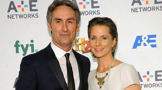 Photo of American Pickers' star,Mike and Jodi Wolfe together.