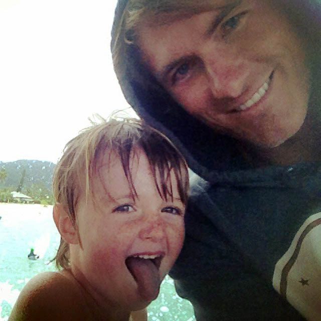 Photo of Misty Raney's husband Maciah and son, Gauge.