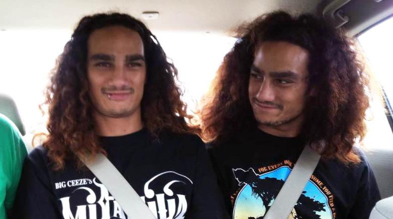 Photo of Tia Torres's twin son, Keli'i and Kanani.