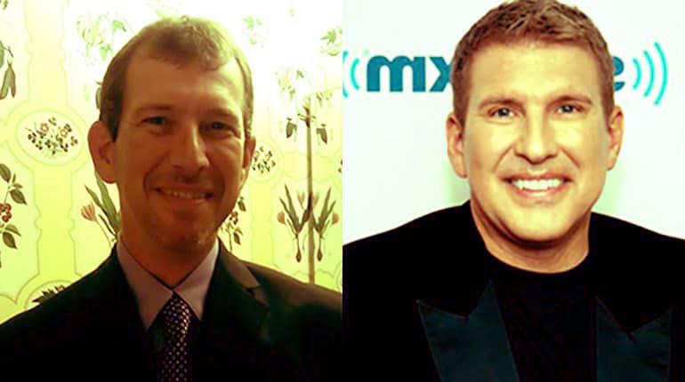 Photo of Todd Chrisley and his brother, Randy Chrisley.