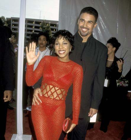 Photo of Shemar Moore and his ex-girlfriend, Toni Braxton.