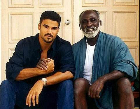 Photo of Shemar Moore and his father, Sherrod Moore.