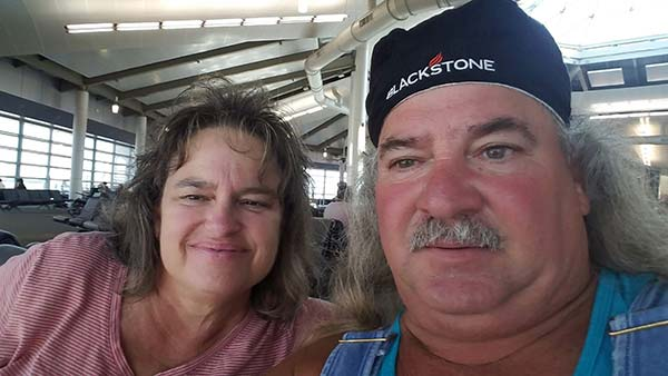 Image of Swamp People cast member, Bruce Mitchell and his wife