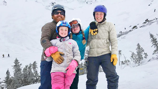 Image of Maine Cabin Masters Cast Member,Chase Morrill and his family